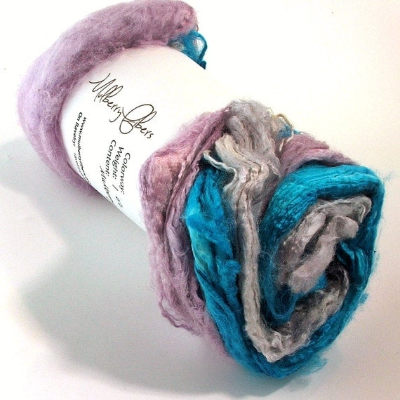 Silk Hankies Mawatas - Hand Painted Dyed for Spinning or knitting - 1 oz