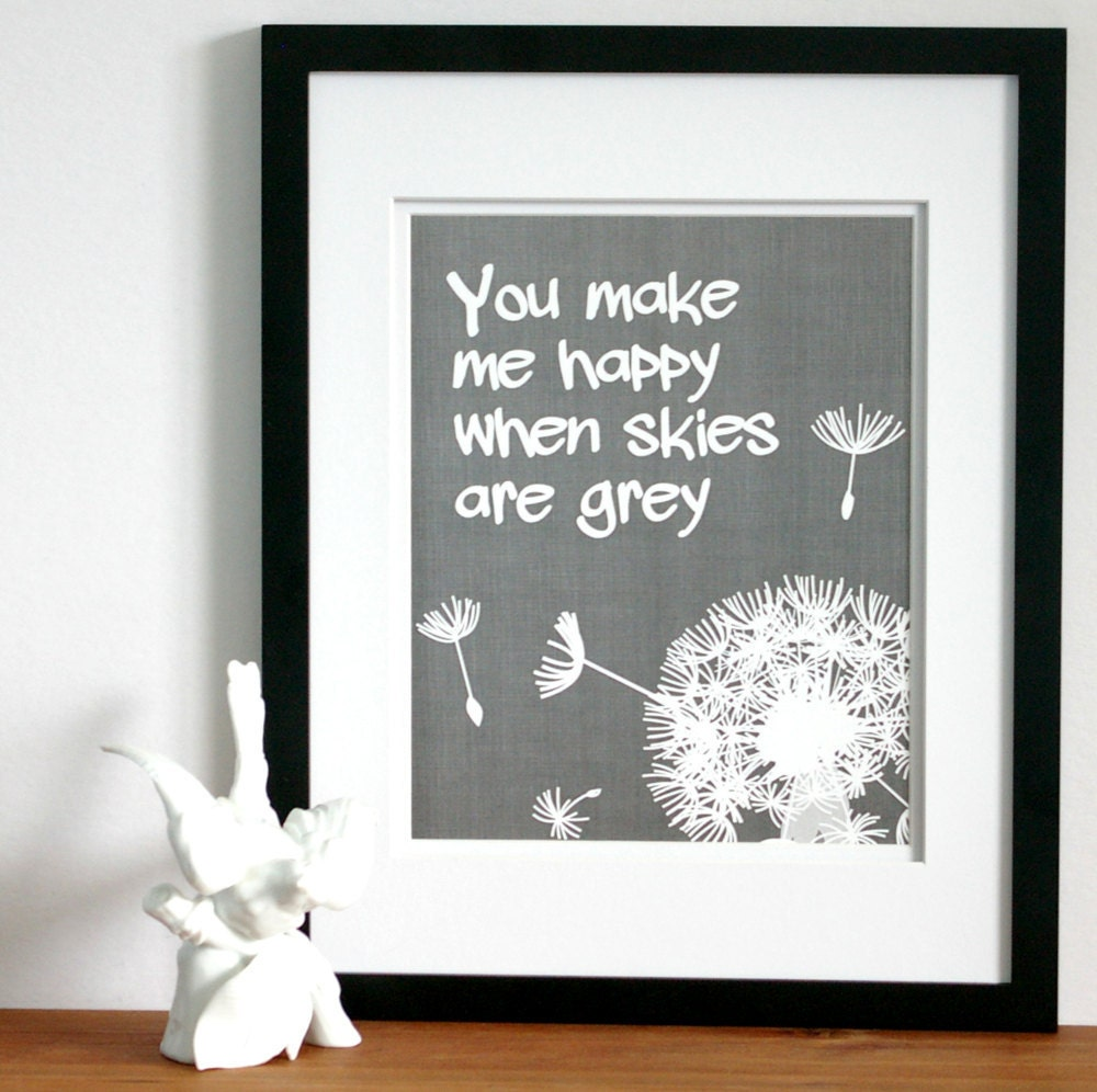You Are My Sunshine Or You Make Me Happy Print Custom Colors