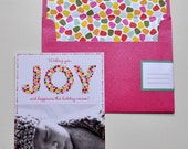 Printable Photo Holiday Cards, Envelope Liners, Stamps and Envelope Icing Address Labels
