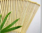 Knitting Needles, One Pair Single Point Straight Bamboo US Size 13, 9 mm, 13.5 inch length