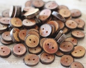 Tree Bark Buttons, Set of 8, Natural Wood Buttons