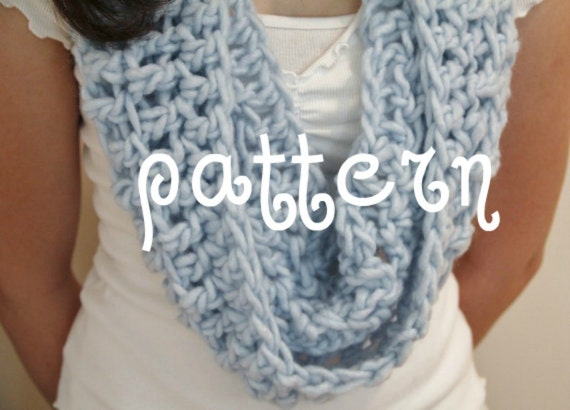 Cowl Crochet PATTERN Loop Scarf Cowl Neckwarmer