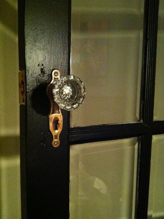 Items Similar To Cottage Vintage Glass Door Knobs In