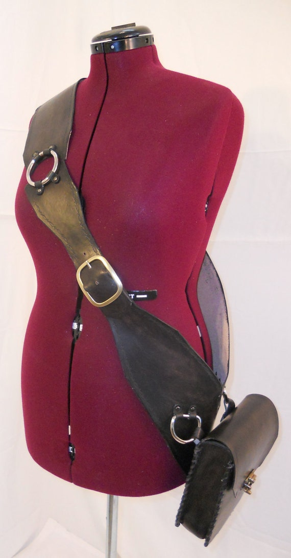 how to make a leather bandolier