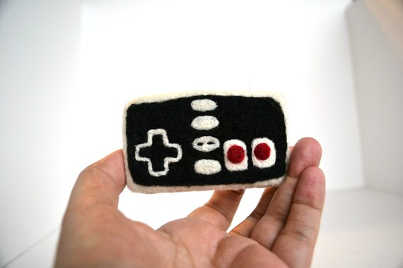 Needle Felted Old School Nintendo Remote