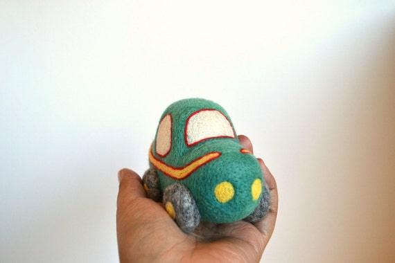 Needle Felted Toy Car- Natural Toys