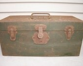 Kennedy Kits Tackle Box for fishing gear Vintage toolchest or crafts supplies toolbox