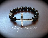 Sideways Cross Bracelet - Check out my other NEW listings.