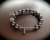 Sideways Cross Bracelet - Check out my other NEW listings. Mens or Woman