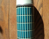 Vintage Aqua Blue Aladdin Thermos  Container with A  Wide Mouth Opening  in Good Condition, Made in Tennessee and  Made in America