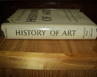 Vintage Hardcover Book of The History of Art  By Auther H.W. Janson in Excellent Condition and a great addition to your library