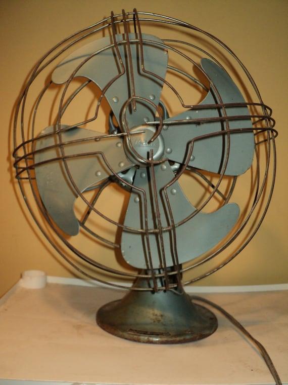 Vintage Ge Fan : Vintage table fan ge voltarex in metallic by rrgs