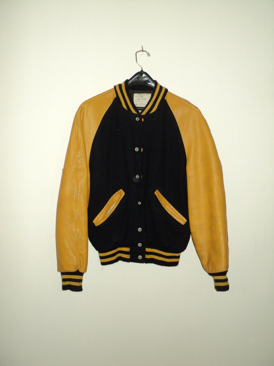 VINTAGE BASEBALL JACKET of Blue and Gold by RRGS on Etsy