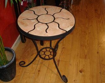 concrete sun table.