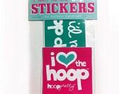 Sale 50% Off -- I heart the hoop BUMPER STICKER Pack