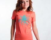 Badass Octopus Coral MEDIUM T-SHIRT