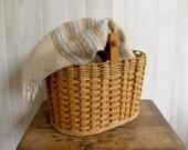Lovely Large Picnic / Blanket Basket