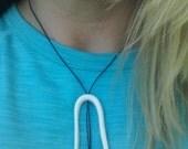 porcelain calamari necklace