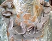 Soft Gray Petal Appliques