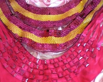 Sequined and Beaded Collar Inserts