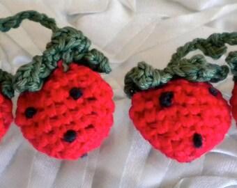 Handmade Crochet Double Strawberries
