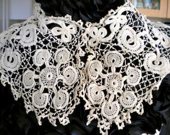 Victorian Ecru Irish Crochet Collar