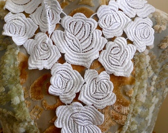White Floral Appliques