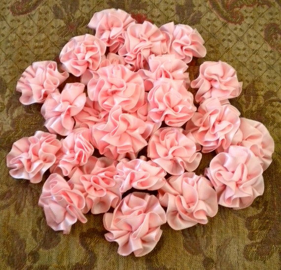 RESERVED for JEAN Pink Satin Ribbon Rosettes