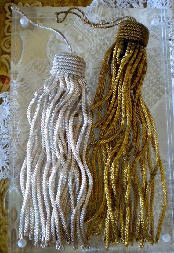 HOLD for THEDISCERNINGEYE 1920's Gold and Silver Metallic Tassels