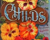 Antique Vintage Seed Packet Digital Download Art Printable Spring Summer Garden