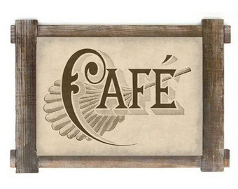 Antiqued French Cafe Kitchen Advertising Digital Download Print