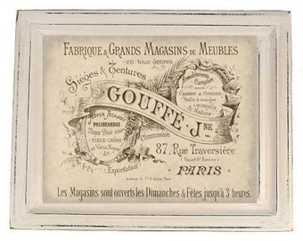 Antiqued French Advertisement Digital jpg Download Print