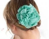 Felted Flower Hair Clip Hair Accessories Seafoam Green Fascinator