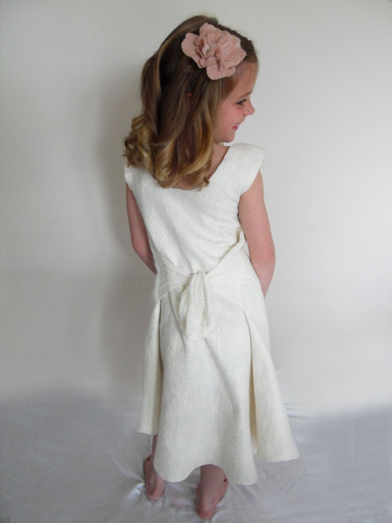 Flower Girl Dress Ivory or choose your colour size 1 - 5 years