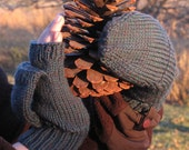 Knit Pattern Pop Top Mittens for Adults
