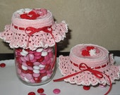 "Crochet pattern Jar ""Top-ography"" thread jar lid cover"