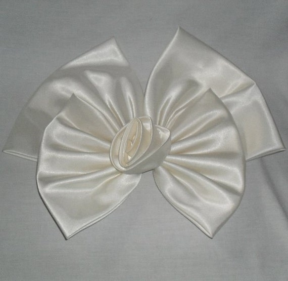 Wedding Bow Large Satin Bow with Rosette from Oleg Cassini Gown SALE
