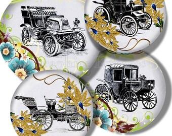 Collage Sheet: Antique Cars  Jpeg Digital File    no. 034