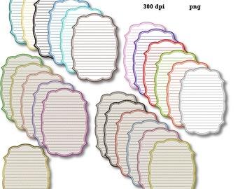 Clip Art: Vertical Color Lined Labels   Transparent Png  Files 113