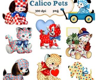 Clip Art: Calico Pets Png Digital Images no 054