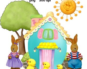 Clip Art: Home Sweet Home Bunny    Transparent Png  Files 121