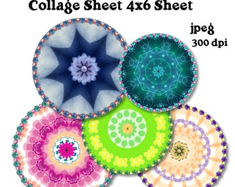 Collage Sheet: Ornament  Emblems Circle,Tags,Labels,Stickers  Jpeg  File  no. 136