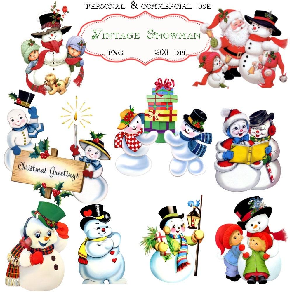 vintage snowman clipart - photo #10