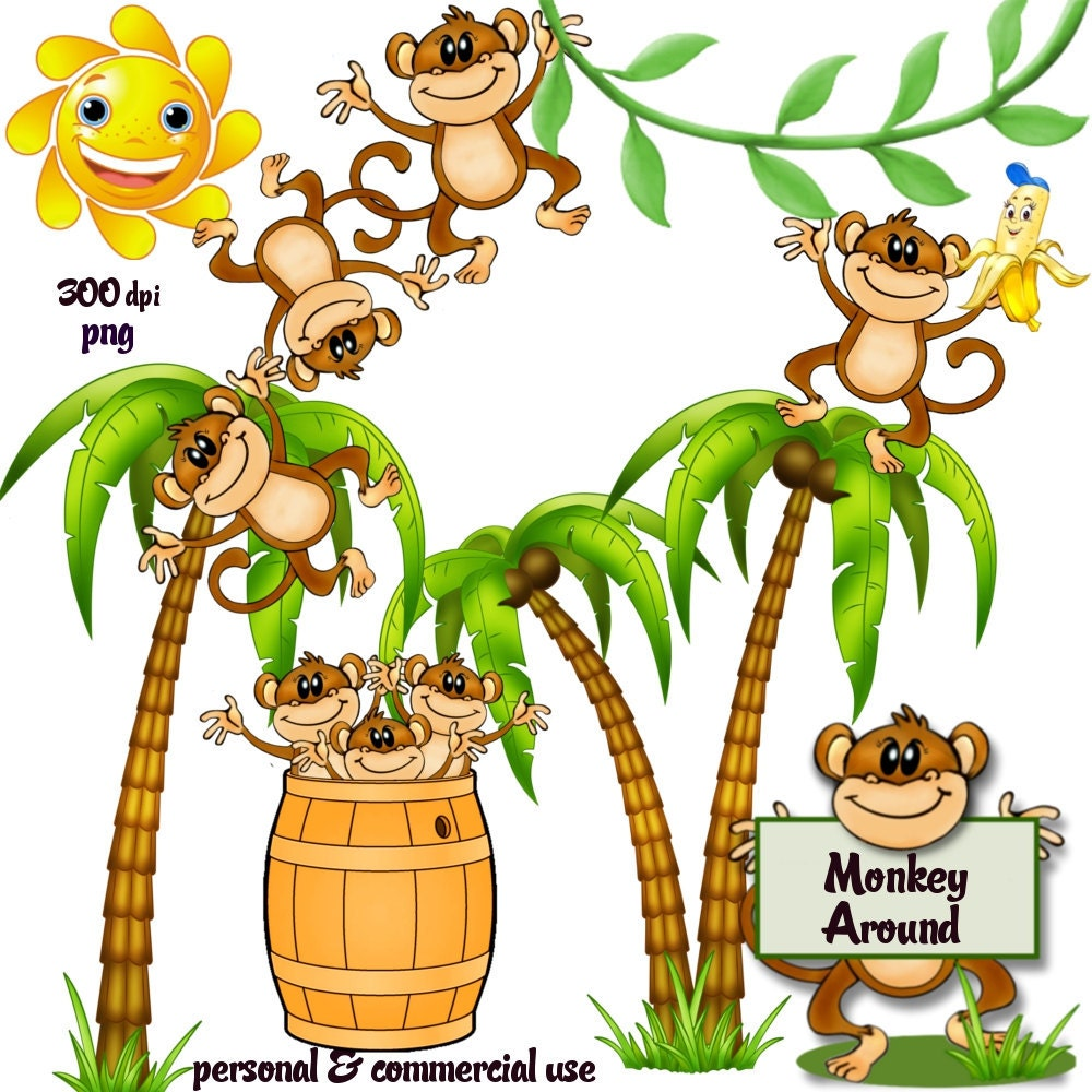 Clip Art: Monkey Around Png Files no 118 by graphicexpress