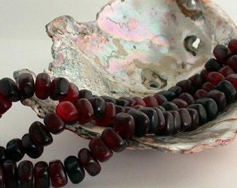 Sale Beads, Destash Beads, Red Horn 12 x 8mm 'Cube' Beads, Red Horn Beads, Recycled Horn Beads, Natural Beads DS-NAT-049