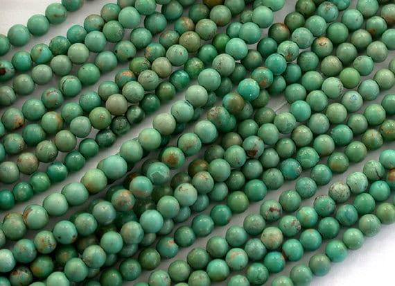 Turquoise Beads,  Semi Precious Turquoise Beads, Gemstone Beads, 3mm Round Turquoise Beads SP-060