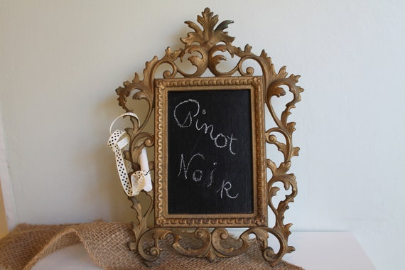 RESERVED FOR DANIELLE     repurposed antique Victorian frame blackboard--cottage chic--shabby chic--home decor