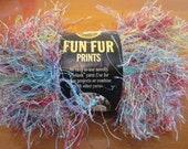 Fun Fur Prints Rainbow Eyelash Yarn, Multicolored blue, green, pink, yellow, purple