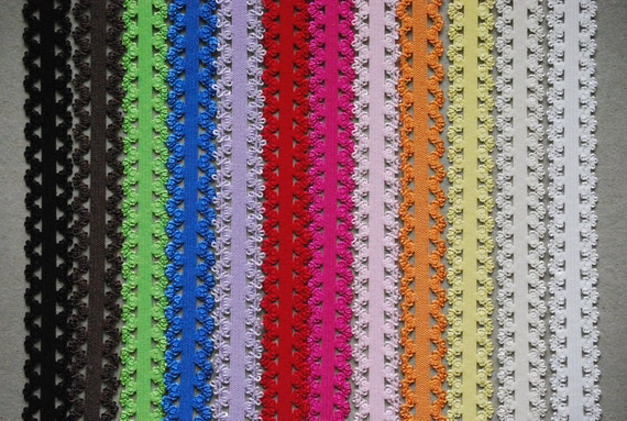 Stretch Lace Elastic Headbands - set of 24 (2 of each color)
