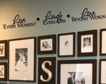 LIVE LAUGH LOVE beyond words Family Home Vinyl Wall sayings lettering Decal LArge Size Options